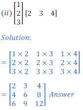 class 12 math Solution of NCERT exercise 3.2 Matrices12