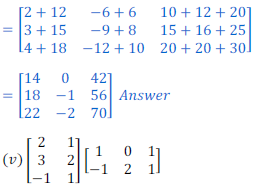 class 12 math Solution of NCERT exercise 3.2 Matrices17