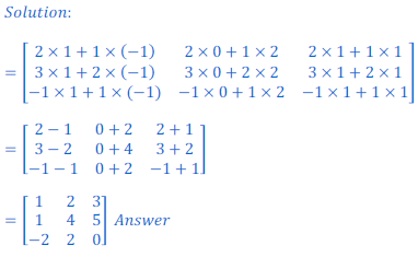 class 12 math Solution of NCERT exercise 3.2 Matrices18