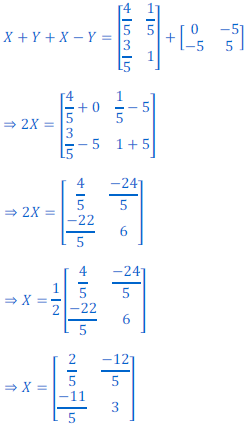 class 12 math Solution of NCERT exercise 3.2 Matrices42