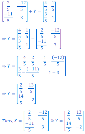 class 12 math Solution of NCERT exercise 3.2 Matrices43