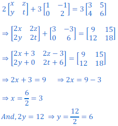class 12 math Solution of NCERT exercise 3.2 Matrices51