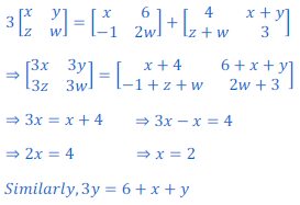 class 12 math Solution of NCERT exercise 3.2 Matrices58